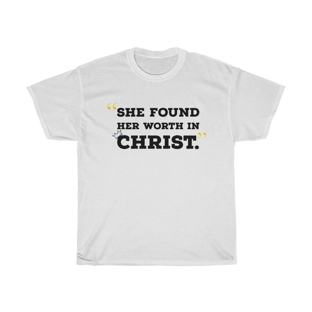 In Christ Cotton Tee (black lettering) - Her Worth Boutique
