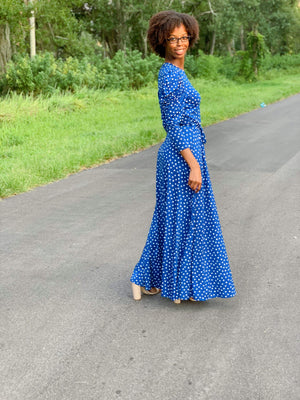 Feeling Blue Maxi Dress - Her Worth Boutique