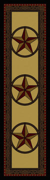 Tooled Leather Star - Brown