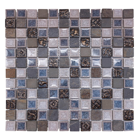 Glass & Natural Stone Mosaic Tiles