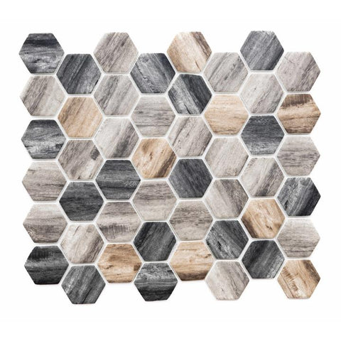 Hexagonal Kitchen Mosaic Tiles