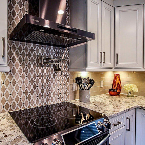 Kitchen mosaic tiles idea