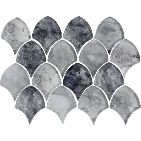 "Seashell 3.13"" x 4.13"" Glass Mosaic Tile - The Tile Life"