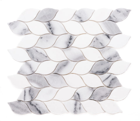 Santorini Braid Marble Mosaic Tile - The Tile Life
