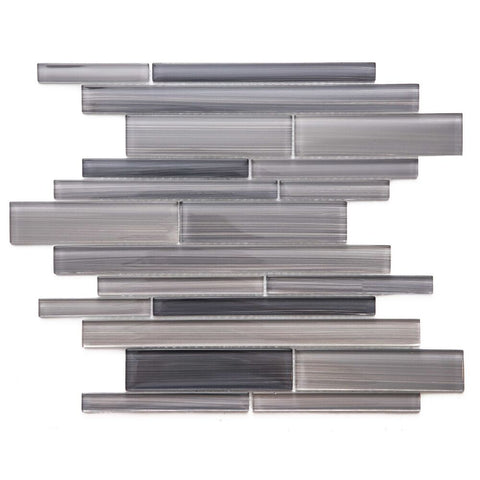 "Rebel 1"" x 6"" Glass Brick Joint Mosaic Tile - The Tile Life"
