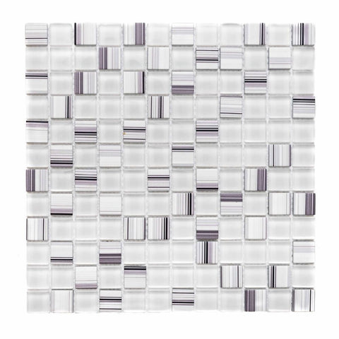 "1"" x 1"" Glass Mosaic Tile - The Tile Life"