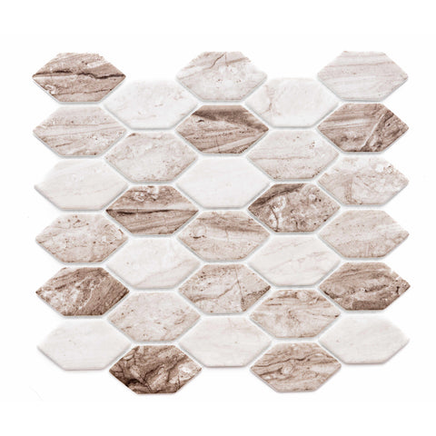 "Recycled Serenity 1.75"" x 2.88"" Glass Mosaic Tile - The Tile Life"