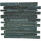 "Cosmos Brick 1"" x 3"" Glass Mosaic Tile - The Tile Life"
