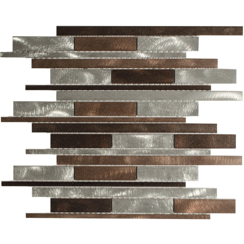 "Mason Brick 1"" x 3"" Metal Mosaic Tile - The Tile Life"