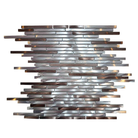 "Mason 1"" x 3"" Metal Mosaic Tile - The Tile Life"