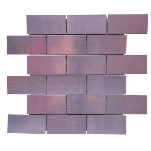 "1"" x 3"" Glass Brick Joint Mosaic Tile - The Tile Life"