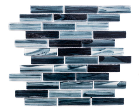"Island 1"" x 3.75"" Glass Mosaic Tile - The Tile Life"