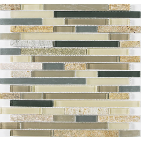 "Victory Brick 1"" x 3"" Glass Mosaic Tile - The Tile Life"