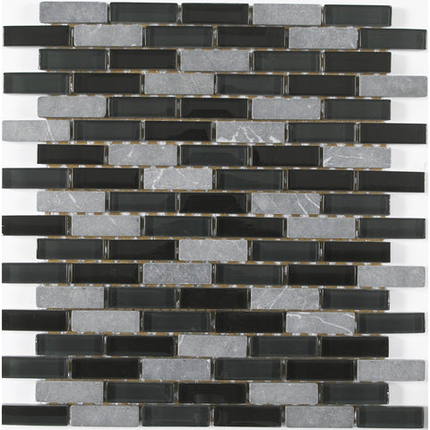 "Victory Mocha Brick 1"" x 2"" Glass Mosaic Tile - The Tile Life"