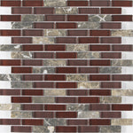 "Victory 1"" x 2"" Glass Mosaic Tile - The Tile Life"
