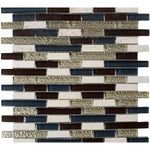 "Victory Brick 1"" x 2"" Glass Mosaic Tile - The Tile Life"