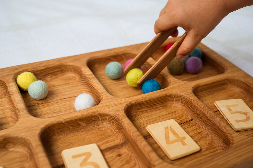 Wooden Sorting Tray
