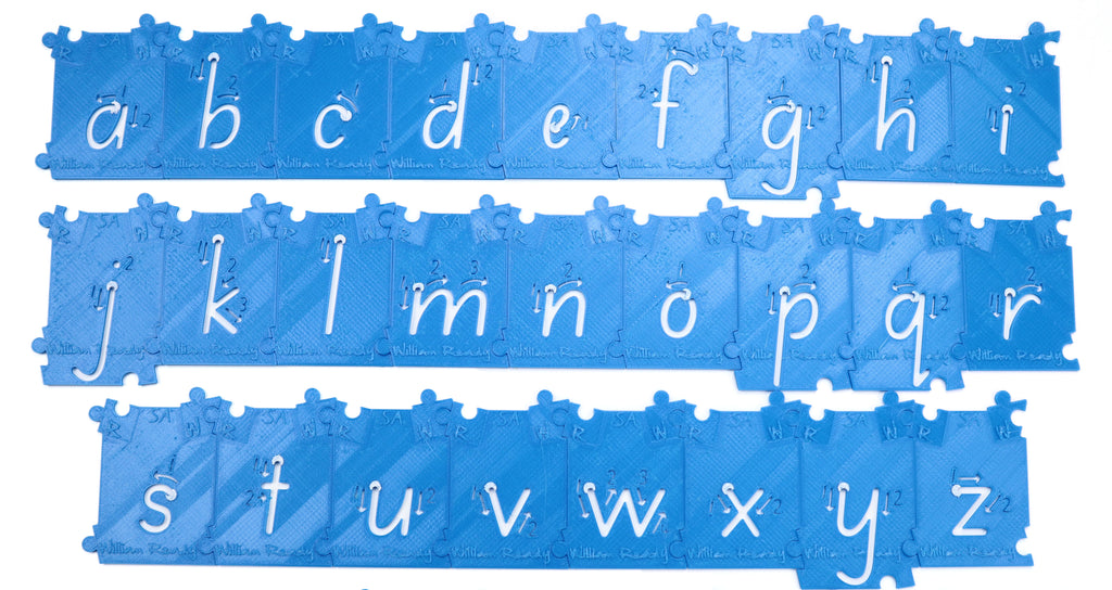 WilliamReady 40mm Stencil Lower Case A-Z
