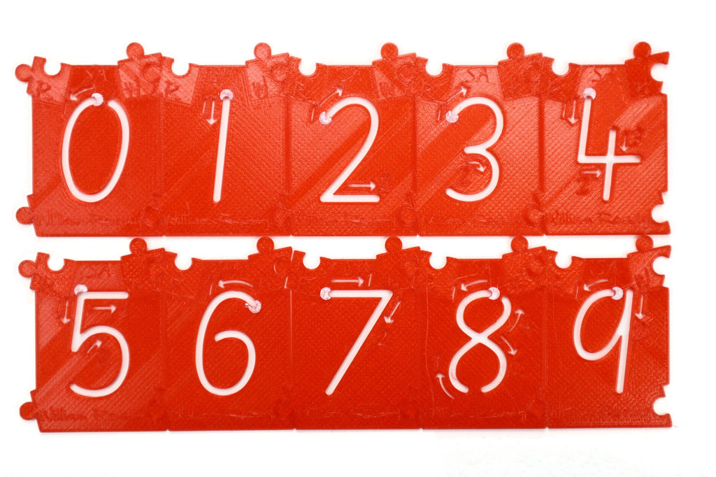 WilliamReady 40mm Stencil Numbers 0-9