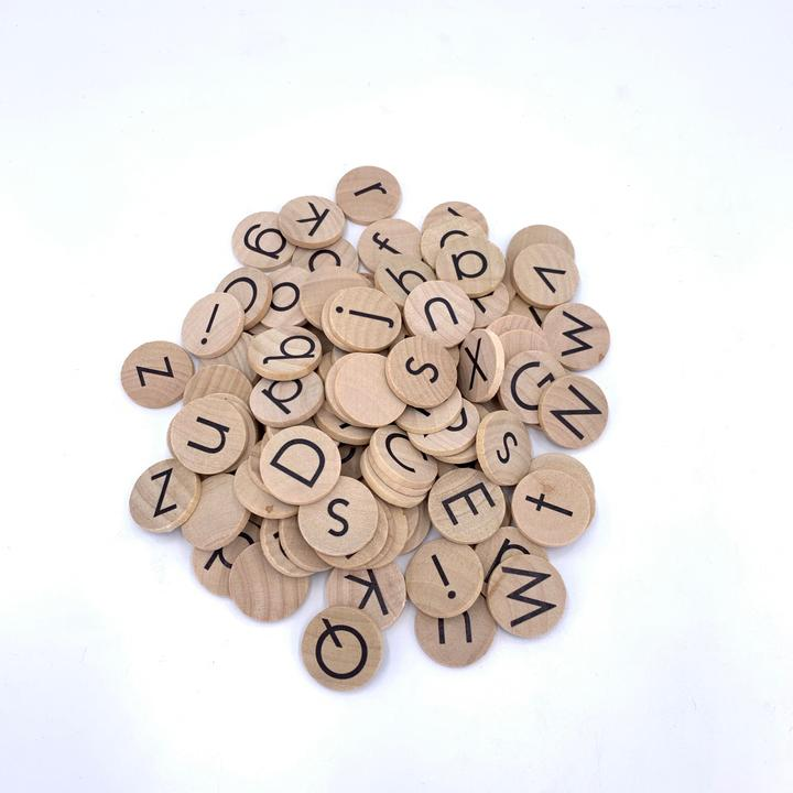 Alphabet Coins (No Pegs)