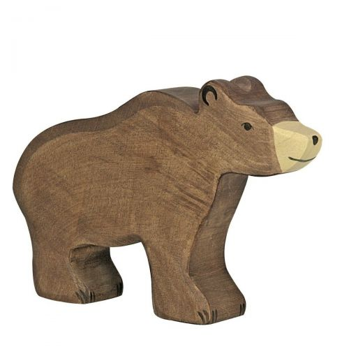 Standing Bear Wooden Figurine