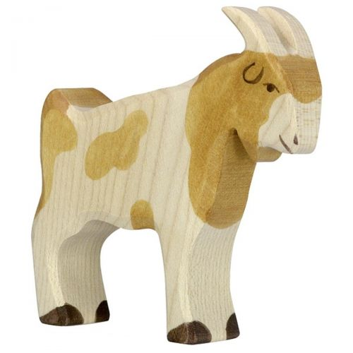 Billy Goat Wooden Figurine