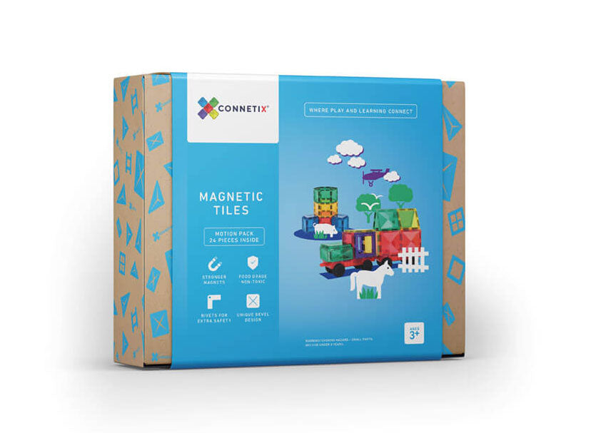 Connetix Tiles 24 Piece Set (Car Pack)