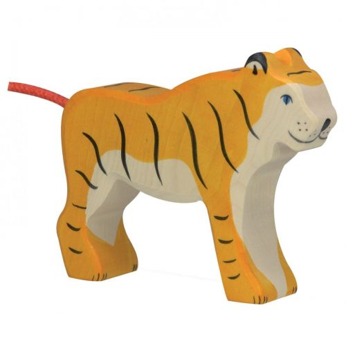 Standing Tiger Wooden Figurine