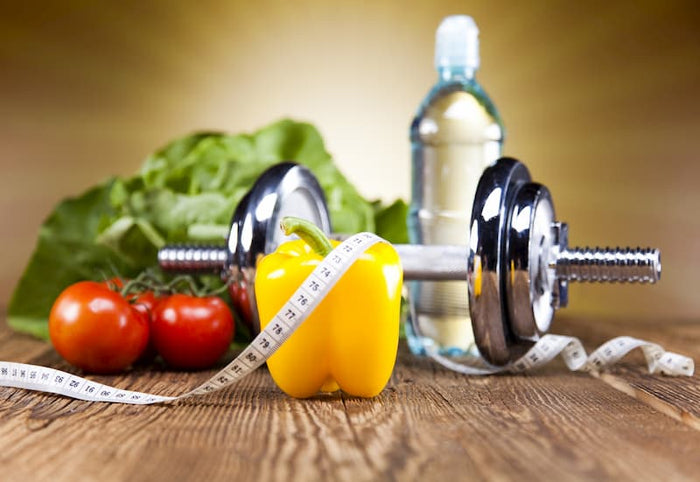 healthy food and exercise