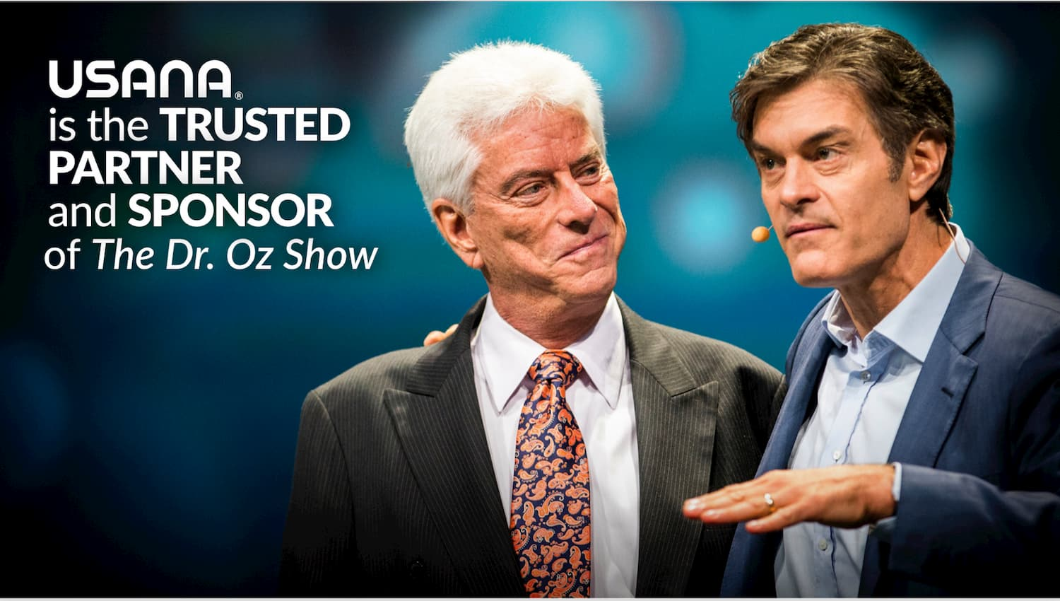 Dr Oz and a friend trusting USANA