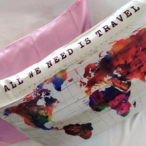 Satin Pillowcase - All We Need is Travel