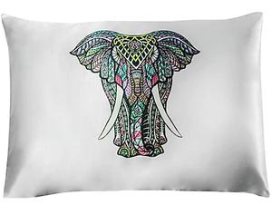Satin Pillowcase - Elephant