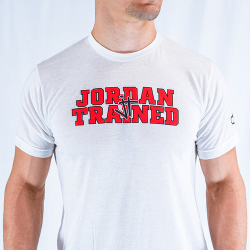 White and Red Jordan Trained t-shirt