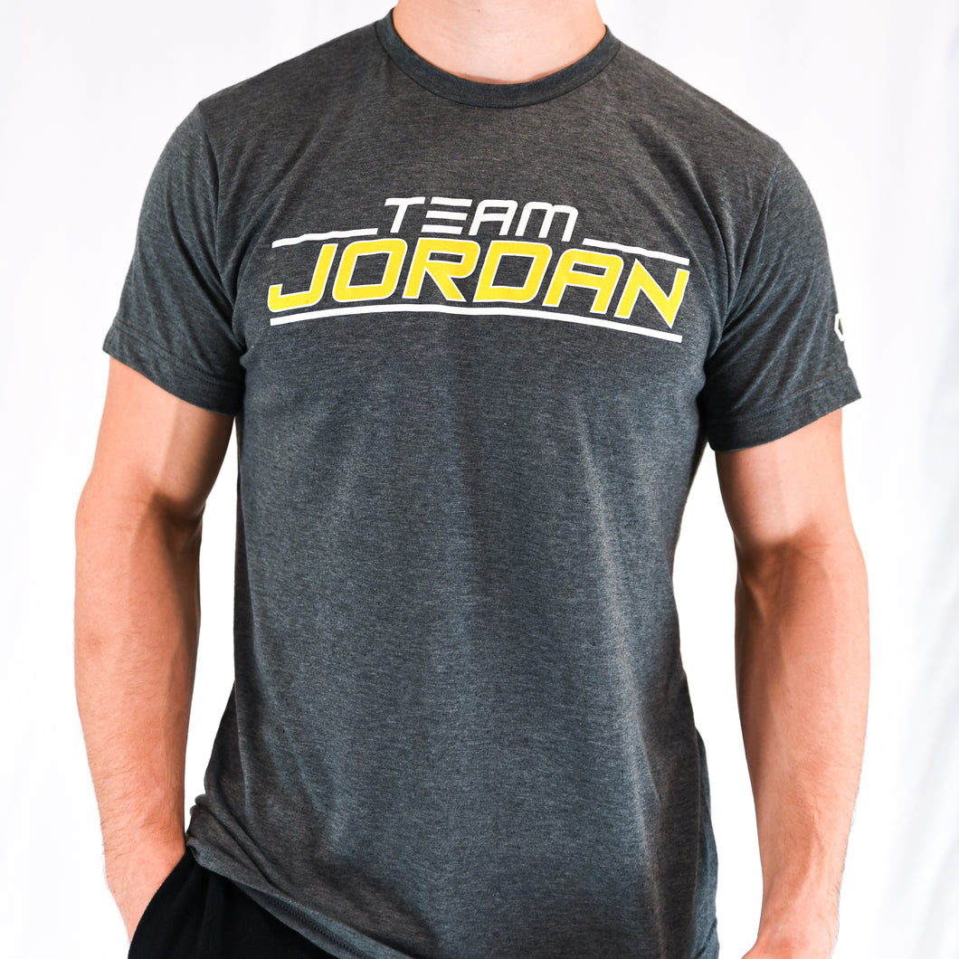 Team Jordan Grey and Yellow T-Shirt