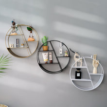 Load image into Gallery viewer, Nordic INS Metal Decorative Hanging Shelf Round Hexagon Storage Holder Shelves Home Wall Decoration Potted Ornament Stand Rack
