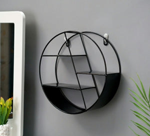 Nordic INS Metal Decorative Hanging Shelf Round Hexagon Storage Holder Shelves Home Wall Decoration Potted Ornament Stand Rack
