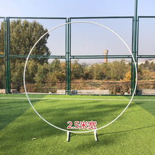 Load image into Gallery viewer, iron circle Wedding arch props background single arch flower outdoor lawn wedding flower door rack wedding birthday decoration