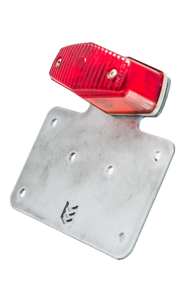 Tail Light License Plate Mount for Lucas Style Lights - No School Choppers