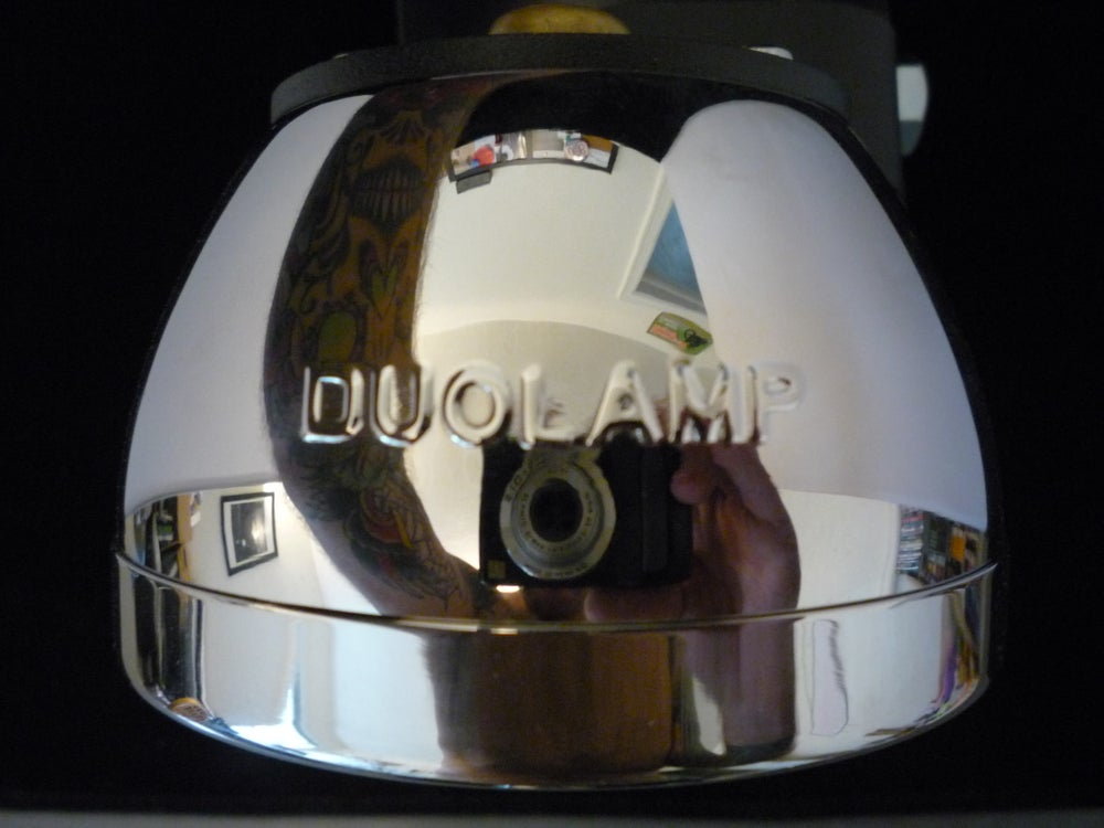 28 Duolamp Tail Light-Polished W/Original Red Lens - No School Choppers