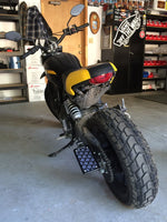 Ducati Scrambler License Plate Bracket Relocation - No School Choppers