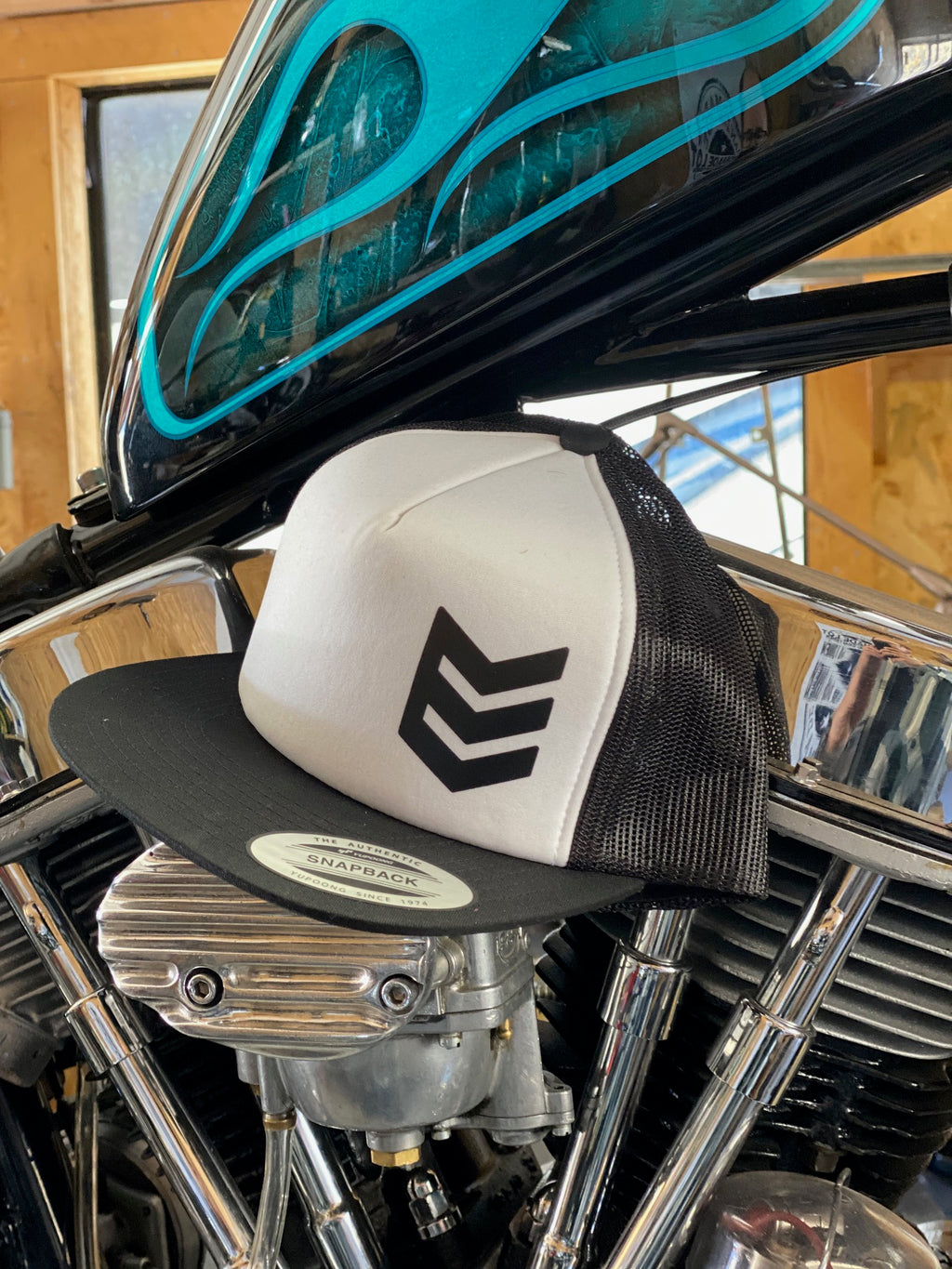 "NSC ""Stock Sucks"" Trucker Snapback Hat - White and Black"