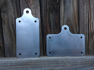 Vertical or Horizontal Raw License Plate Mount for LED lights - No School Choppers