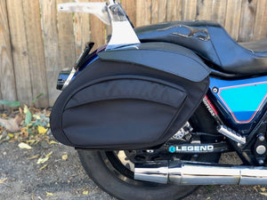 Leather Pros Retro Series V3 DYNA Saddlebags FREE SHIPPING - No School Choppers