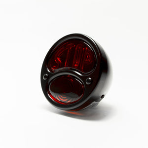 28 Duolamp Tail light-Black W/Stop Lens - No School Choppers