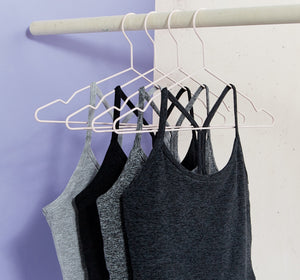 Hanging core colors in Slim Raber Crop Tanks