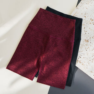 Two pairs of our best selling biker shorts in charcoal and burgundy.