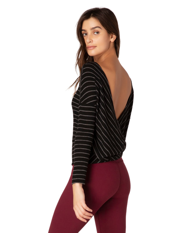 Striped Brushed Back Pullover