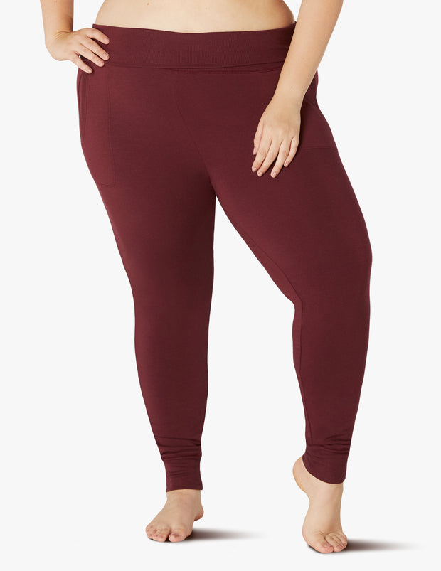 Cozy Fleece Foldover Long Sweatpant (1X-3X)