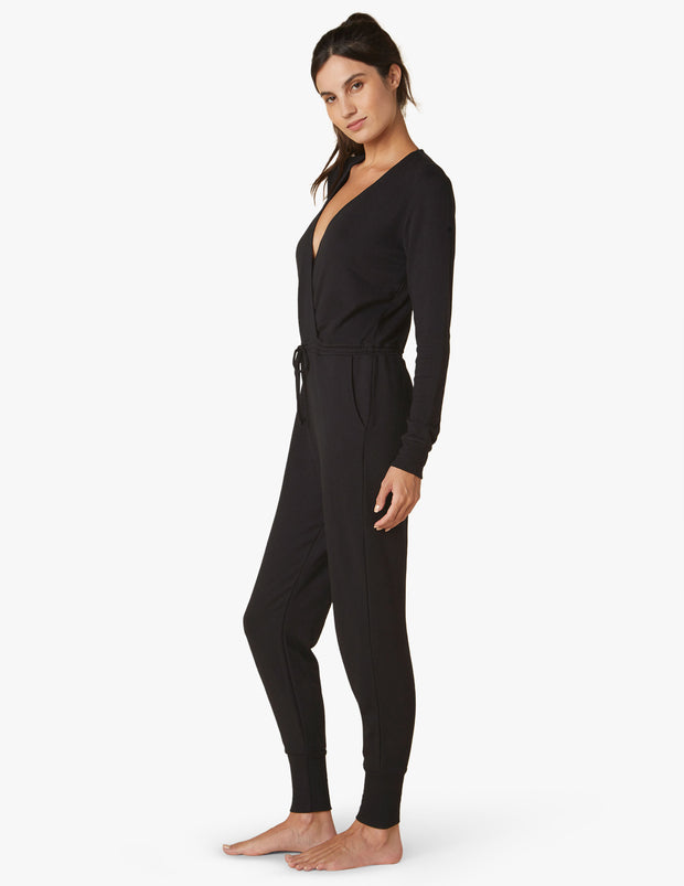 Cozy Fleece Cross Your Heart Jumpsuit