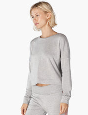 Color Streak Cropped Sweatshirt